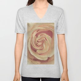 pale yellow rose Unisex V-Neck