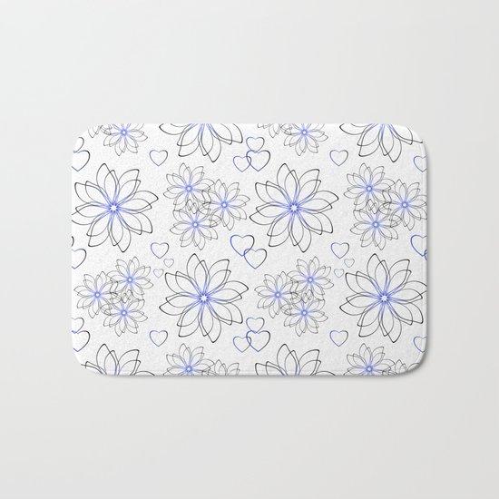 Cute floral pattern. Bath Mat