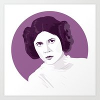 princess leia Art Prints featuring Leia by zaiure