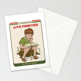 Live forever Retro Postcard Illustration Stationery Cards