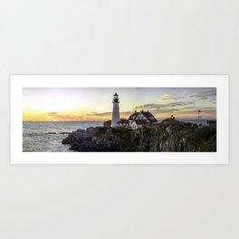 Portland Head Light Sunrise Art Print