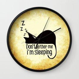 Cat Sleeping Wall Clock