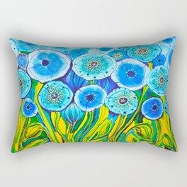 Field of Blue Poppies #1 Rectangular Pillow