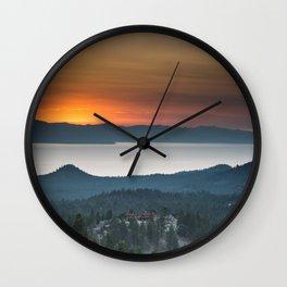Vibrant Sunset Wall Clock