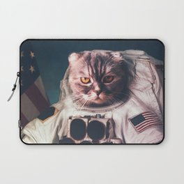 Beautiful cat astronaut Laptop Sleeve