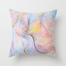 Wind I - Colored Pencil Throw Pillow