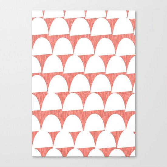 Shroom reverse coral Canvas Print