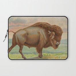 Vintage Illustration of a Buffalo (1890) Laptop Sleeve