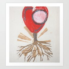 rooted heart Art Print