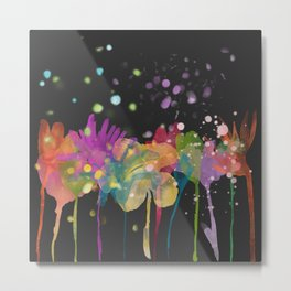 Watercolor flowers dp059-12 Metal Print