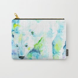 POLAR BEAR - watercolor portrait Carry-All Pouch