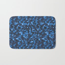 Blue Abstract Camouflage Bath Mat