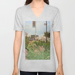 The Spring Flowers in Coney Island Unisex V-Neck
