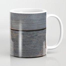 Dry leaf on a piece of wood Coffee Mug