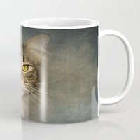 maine Mugs featuring Maine Coon by Pauline Fowler ( Polly470 )