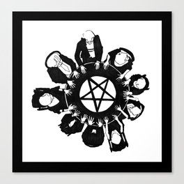 The night they summoned the demon R.H.L. Canvas Print