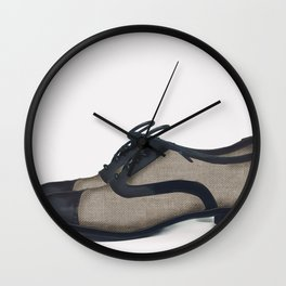 Leather bluchers Wall Clock