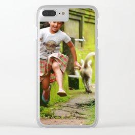 Bali - Girl Running Clear iPhone Case