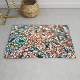 Starry Wishes and Bokeh Dreams...Coral Sea Rug