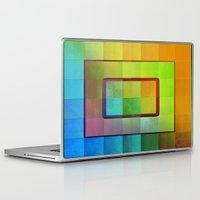 aperture Laptop & iPad Skins featuring Aperture #3 Vibrant Fractal Pleat Texture Design by CAP Artwork & Design