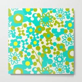 Green Flora Metal Print