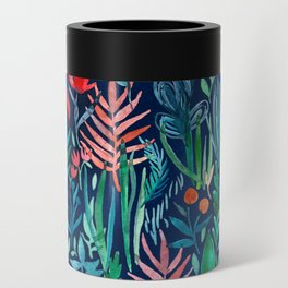 Tropical Ink - a watercolor garden Can Cooler