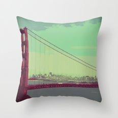 Golden Gate Bridge from Marin Throw Pillow