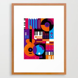 Music Mosaic Framed Art Print