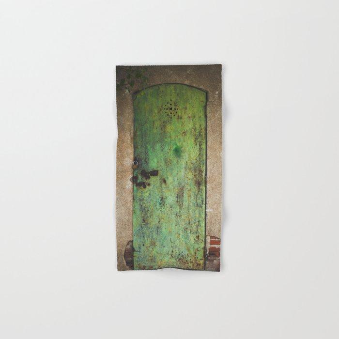 Rusty Green Door Hand & Bath Towel
