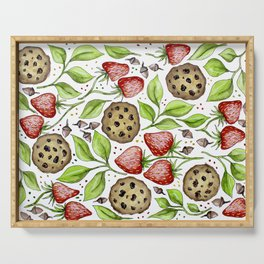 Strawberries and Cookies Design Serving Tray