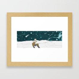 Falling stars for Curiosity Framed Art Print
