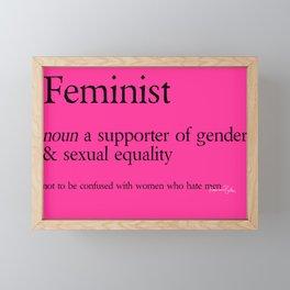 Femnist Definition Framed Mini Art Print