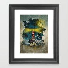 the sea is poetry Framed Art Print