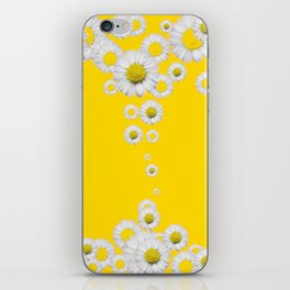 WHITE DAISIES WINDFALL YELLOW ART iPhone Skin