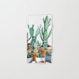 Potted Cacti Hand & Bath Towel