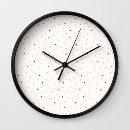 Yellow Gold Ditsy Confetti Drops Trendy Print Wall Clock