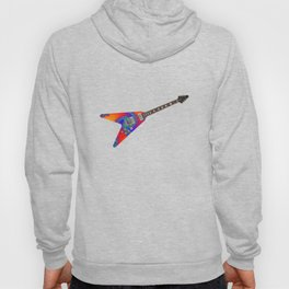 Guitar With Fractal Graphics Hoody