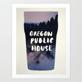 Oregon Public House Poster - 7 Art Print