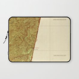 Camp Baldy, CA from 1940 Vintage Map - High Quality Laptop Sleeve