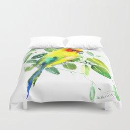 Sun Parakeet Duvet Cover