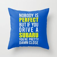subaru Throw Pillows featuring Subaru Owners  by Barbo's Art