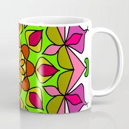 Single Mandala with Abstract Foliage Coffee Mug