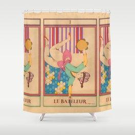 Tarot Card-The Juggler-Le Bateleur Shower Curtain