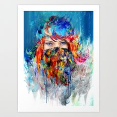 frozen princess Art Print