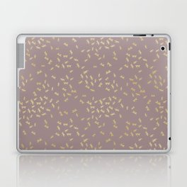 Dragonflies on purple - gold touch Laptop & iPad Skin
