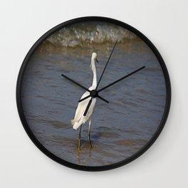 Seaside Scrutiny Wall Clock