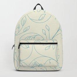Floral tenderness. Cute floral pattern in pastel colors. Backpack