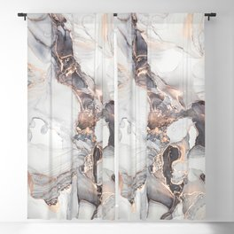 010 Abstract alcohol ink painting. Stone texture Blackout Curtain