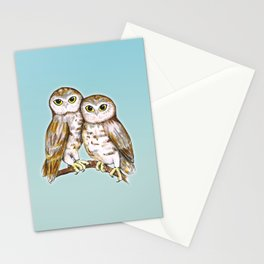 Two cute owls Stationery Cards