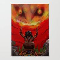 majora Canvas Prints featuring attack on majora! by fangterry